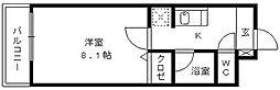 ハイラ−ク花畑駅前[411号室]の間取り