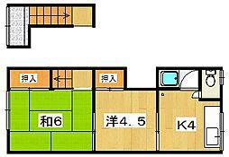 岡崎文化[2階右号室]の間取り
