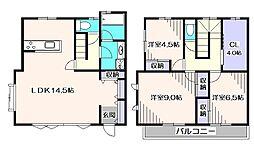 [テラスハウス] 東京都西東京市南町3丁目 の賃貸【/】の間取り
