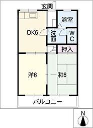 メゾン高木23[2階]の間取り