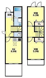 [タウンハウス] 愛知県豊田市東梅坪町9丁目 の賃貸【/】の間取り