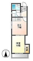 コーポ徳川[4階]の間取り