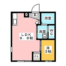 Ceres岩塚駅前 B[2階]の間取り
