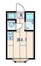 アーバンプレイス東新宿II・D[102号室]の間取り
