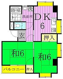 シティビル[3階]の間取り