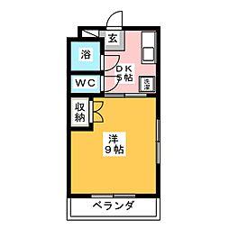 ボンセジュール・ナガイ[3階]の間取り