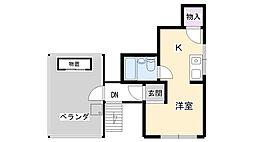 兵庫県西宮市甲子園口1丁目の賃貸マンションの間取り