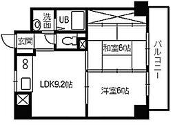 フレア21三滝[2階]の間取り