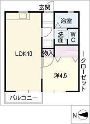 シャトー白菊[2階]の間取り