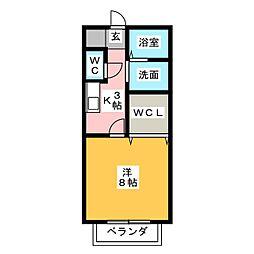 サン・friends HiRO[1階]の間取り