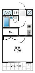 レインボーヒル桜台[4階]の間取り