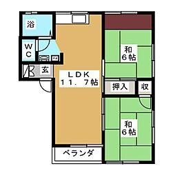 ハウスN.A[2階]の間取り