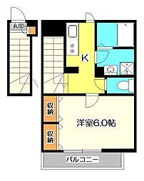 リブリ・武蔵小金井[2階]の間取り