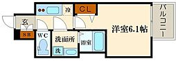 レオンコンフォート難波リオ[4階]の間取り