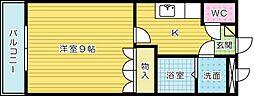エクセレンス長野[203号室]の間取り