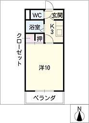 第6ハイツ・タマキ[3階]の間取り