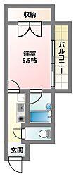 大阪府寝屋川市本町の賃貸マンションの間取り