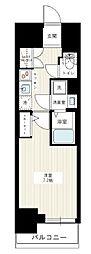 東京メトロ日比谷線 三ノ輪駅 徒歩5分の賃貸マンション 8階1Kの間取り