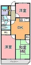 コズミック東赤塚[306号室]の間取り