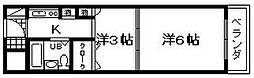 エイトワン吉井町[301号室]の間取り