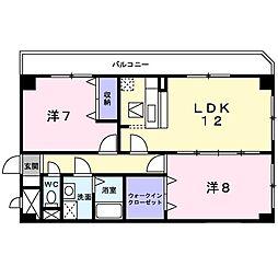 Osaka Metro長堀鶴見緑地線 門真南駅 徒歩10分の賃貸マンション 2階2LDKの間取り