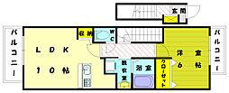 グラースメゾン2[2階]の間取り