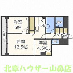 PRIME URBAN札幌リバーフロント[4階]の間取り