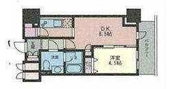 ドゥーエ幡ヶ谷[9階]の間取り