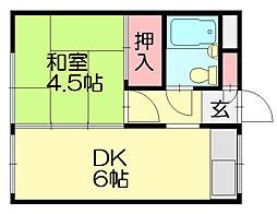 山田荘[2階]の間取り