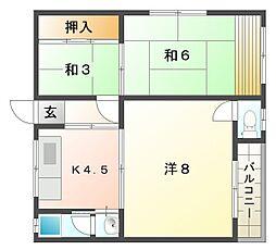 福建第2ビル[3階]の間取り
