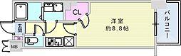 JR東海道・山陽本線 神戸駅 徒歩15分の賃貸マンション 4階1Kの間取り