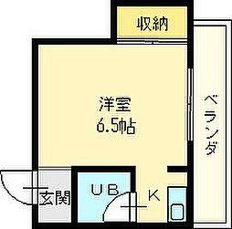大阪府堺市北区中百舌鳥町6丁の賃貸マンションの間取り