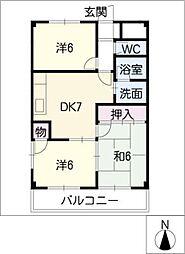 ファミーユ喜多山[1階]の間取り