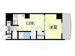 ノルデンタワー新大阪アネックス 23階1LDKの間取り