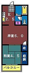 PLAZA TAKI[203号室]の間取り