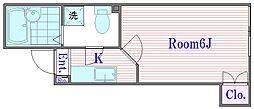 東京都練馬区北町1丁目の賃貸アパートの間取り
