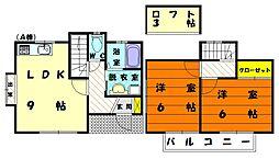 メゾン青葉A棟[2階]の間取り