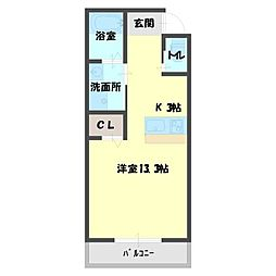 ベルパティオ3[1階]の間取り