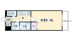 アドバンス京都アリビオ 5階1Kの間取り