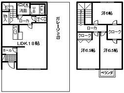 [テラスハウス] 大阪府岸和田市南上町2丁目 の賃貸【/】の間取り