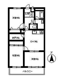 ファミリーシティマンションA[3階]の間取り