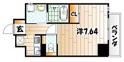 Studie KOKURA NORTH[5階]の間取り