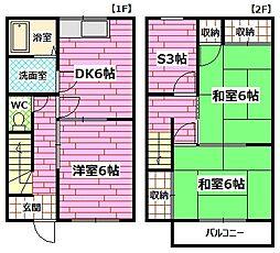 [テラスハウス] 広島県広島市南区向洋新町3丁目 の賃貸【/】の間取り
