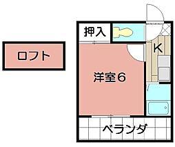 エクセレント藤井[203号室]の間取り