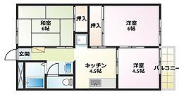 マリンエステートKI[1階]の間取り