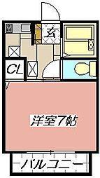 クライスマルミネ[205号室]の間取り