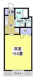 ウァーレスS-K[1階]の間取り
