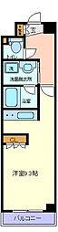 仙台市営南北線 仙台駅 徒歩8分の賃貸マンション 4階ワンルームの間取り
