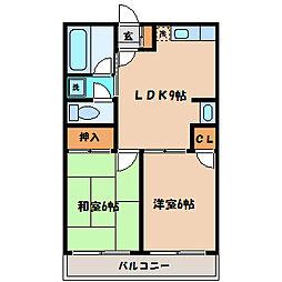神奈川県川崎市麻生区片平4丁目の賃貸アパートの間取り