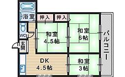 下村マンション[5階]の間取り